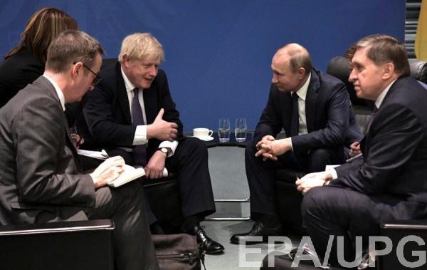 Джонсон и Путин в Берлине 19 января