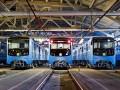 Киевлянам показали новые вагоны метро (фото)