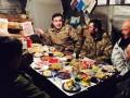 Саакашвили встретил Новый год с бойцами на передовой