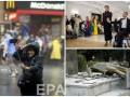 День в фото: Марина Порошенко на балу, декоммунизация в Крыму и селфи во время урагана