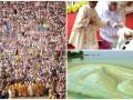 День в фото: Крестный ход в Киеве, падение Папы Римского и плесень на Киевском море