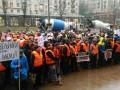 В Киеве строители и застройщики вышли на пикет под мэрию
