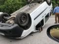 Под Киевом перевернутый Renault парализовал шоссе
