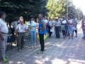 В ЛНР победитель соревнований развернул флаг Украины