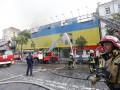 Сгоревшее на Крещатике здание под угрозой разрушения – ГСЧС
