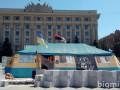 В Харькове утром неизвестные подожгли палатку