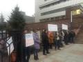Погоня в Киеве: под зданием суда митингуют в поддержку патрульного