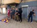 В Одессе разрисовали офис и сожгли палатку Оппоблока