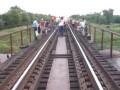 Взрыв моста в Запорожской области: видео с места событий