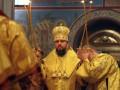 Митрополит Епифаний служит первую Литургию