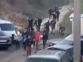Появилось видео разгона цыганского табора в Киеве
