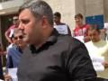 Закарпатские ромы вышли на акцию протеста против погрома лагеря во Львове