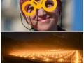 День в фото: велосипедная акция в Киеве и светящийся виноградник в Швейцарии