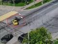 Полицейский мотоцикл на скорости врезался в такси