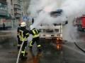 В Броварах на улице загорелся грузовик