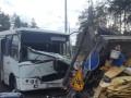 В Киеве маршрутка врезалась в автоподъемник: пять пострадавших