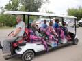 От моста до пункта пропуска в Станице Луганской запустили электромобиль