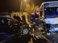 Под Одессой легковушка влетела в маршрутку: восемь пострадавших