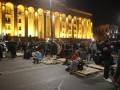 Протестующие в Тбилиси провели ночь в палатках