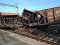 Возле Львова с рельсов сошел грузовой поезд