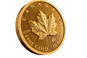 В Канаде выпустили саму большую в истории страны монету