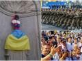 День в фото: 25 лет независимой Украины и писающий мальчик в вышиванке