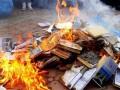 В Тбилиси показательно уничтожили российские учебники географии