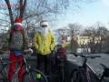 В Одессе горожане провели новогодний велопробег в 15-градусный мороз