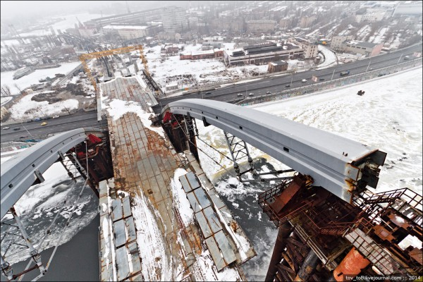 Подольского моста в Киеве