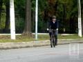 На свои первые в Украине выборы Саакашвили приехал на велосипеде