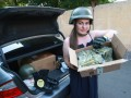 Гелетей передает пожертвования на армию Совету волонтеров