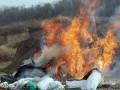 В Хмельницком полицейские сожгли тонну наркотиков