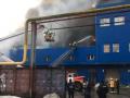 Масштабный пожар на складах возле метро