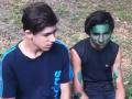 Активисты облили зеленкой подростков, избивших бездомного в Киеве