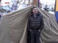 Саакашвили переночевал в палатке и готовится к лекции