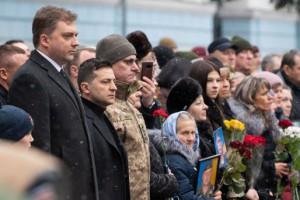 Зеленский почтил память погибших киборгов