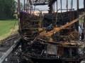 В России сгорел автобус из Донецка, есть пострадавшие