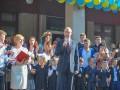 Порошенко и Яценюк с женами побывали в школах в День знаний (фото)
