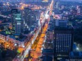 Киев с высоты: вид на город с крыши 25-этажного здания