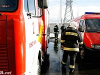 В Киеве во время движения загорелась машина