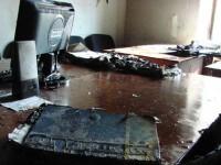 В здание Киевблагоустройства бросили два коктейля Молотова