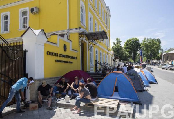 Украинцам не советуют участвовать в акциях протеста в Молдове