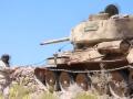 Легендарный танк Т-34 участвует в боях на Ближнем Востоке