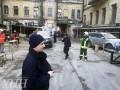 Обвал здания в Киеве: фото с места происшествия
