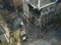 В центре Одессы рухнул дом: Момент обрушения попал на камеры
