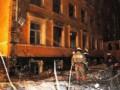 В центре Киева горело отселенное здание возле Генпрокуратуры