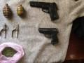 На Донбассе задержали мужчину с пистолетами и гранатами