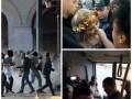 День в фото: Femen у Рады, Кличко в автобусе и коктейли Молотова в Греции