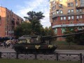 По центру Киева проехали танки