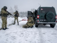 Украинские пограничники проводят сборы резервистов